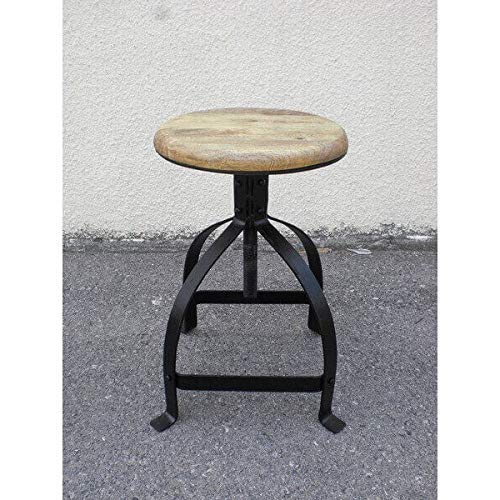 MATHI DESIGN Hocker industriellen Schenkel verstellbar Noir Vintage