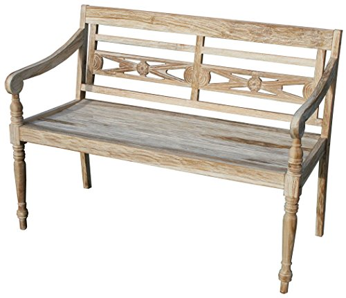 KMH®, 2 sitzer Harry (115 cm) im Shabby Chic Stil   whitewashed (#102142)