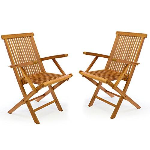 Teakholz gartenmöbel klappbar  Teak Gartenstühle