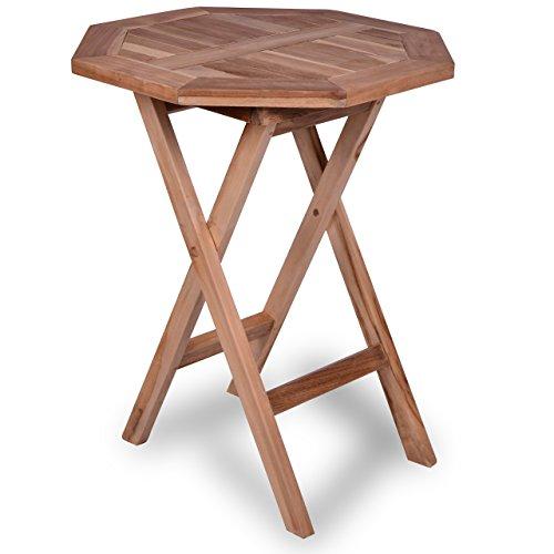 Gartentisch Holz Klappbar Gebraucht ~   Balkontisch Gartentisch Tisch Beistelltisch Holz Teak klappbar 50 cm