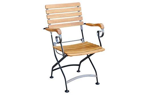schicker gartenstuhl aus teak. Black Bedroom Furniture Sets. Home Design Ideas