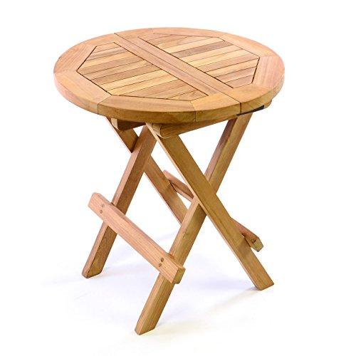 sch ner teakholz tisch z b rund. Black Bedroom Furniture Sets. Home Design Ideas