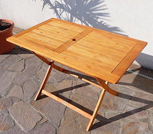 Klapptisch Holztisch Gartentisch Garten Tisch 120x70cm Geölt Holz  Eukalyptus Wie Teak Von AS S