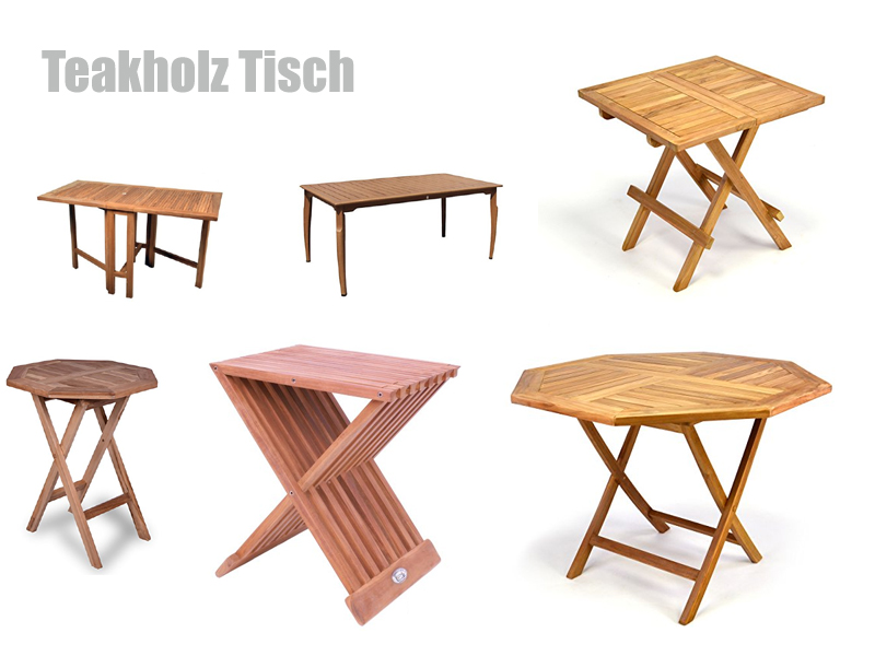 Teakholz Tisch rund